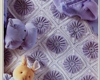 Crochet PATTERN - Motif Afghan Blanket Cover Lapghan Baby  Immediate download