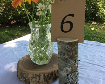 Rustic Wedding Table Number Holder Tree Branch Country Outdoor Wedding Eco Friendly