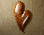 Best brown Walnut Valentine's Day present wall heart wood carvings