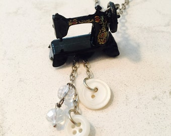 Sewing Machine Necklace for the Seamstress or Quilter