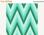 SuperBowl Sale Color Me Happy from V and Co and Moda fabrics, Floral Ikat Chevron Emerald, 1/2 yard total