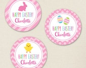 Easter Stickers (Pink) - Sheet of 12 or 24
