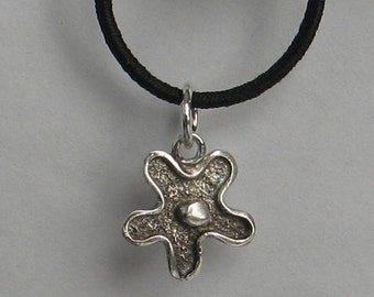Vintage Sterling Silver  Tiny Flower Charm