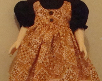 Dress and apron 18 inch or American Girl size doll