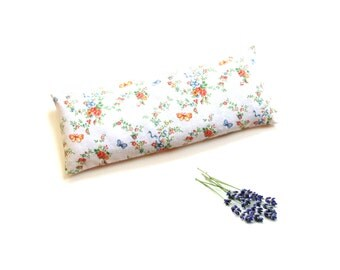 Lavender eye pillow, relaxation aromatherapy, gift for her, organic eye pillow, microwavable,  cold therapy pack, soothing eye relief