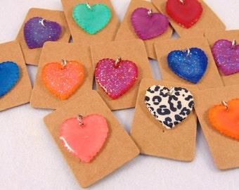 Love Heart Bracelet Charm - Choose your own colour