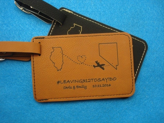 60 LUGGAGE TAGS Leather Luggage Tags personalized with your