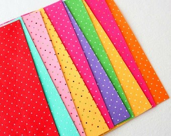 Polka Dot Felt - Brights 10 Sheets 6x9