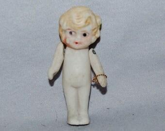 Vintage / Bisque / Doll / Flapper / Blond / frozen charlotte / penny doll / Vintage Dolls