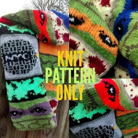 Knitting Pattern For Ninja Turtles Jumper : Ninja Turtle Inspired Cowl Knit Pattern Only Mutant