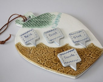 Ceramic Cheese Board, Serving Platter, Serving Tray, Serving Board, Housewarming Gift, Bell Shaped Cheese Board set
