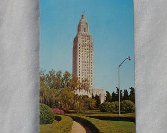Vintage Postcard Lousiana State Capitol Building, Baton Rouge Vintage Souvenir, Tallest