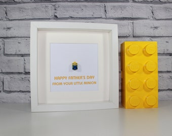 MINION - Father's Day Special - Framed custom minifigure