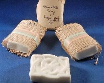 Handmade Goat's Milk Bath Soap Bar, Desert Scent