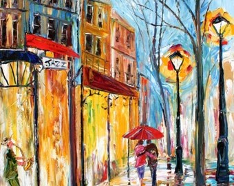 Fine Art Print made from past oil painting by Karen Tarlton - New Orleans Evening