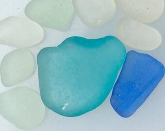 Sea Glass or Beach Glass of Hawaii  AQUA! PERIWINKLE BLUE!  Bulk Sea Glass! Exceptional For Pendants! mosaic tiles