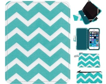Aqua chevron nook case, nook glowlight, nook case, nook cover, nook glowlight case, simple touch case, nook hd case, nook hd cover, nook