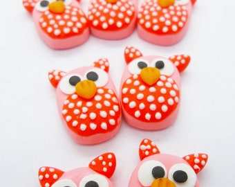 12 Miniature Polymer Clay Animal for Dollhouse and Beads Jewelry