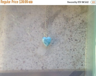 ON SALE Larimar Jewelry Larimar pendant my blue heart pendant (chain not included) simple clean minimalist jewelry