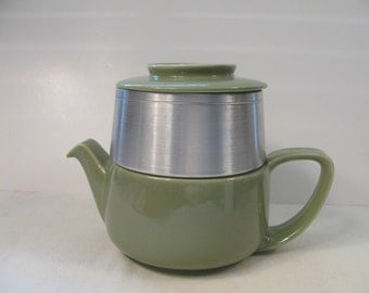 Vintage Hall Tricolator Coffee Maker / Tea Pot - Celadon Green - Great Condition