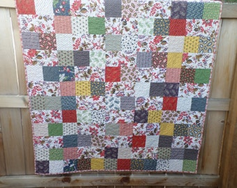 SALE - Letters Home Lap Quilt - Reproduction Patchwork