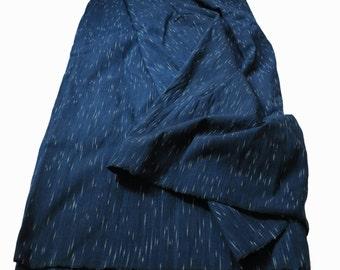 SPRING SALE 15% OFF - SKUIDHF18 - Saifon 1, dark indigo tone, ikat pattern