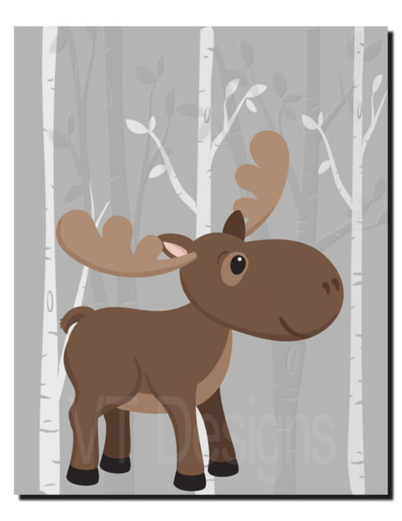 Baby Boy Moose Clipart Items similar to Woodl...