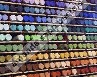 Artist pastels Sennelier color photograph