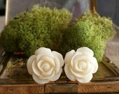 Plugs - Gauges - White Roses