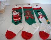 handknitted Christmas stocking