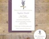 Bridal Shower Invitations, Bridal Shower, Lavendar,  Flowers, Bridal Shower Invites, Wedding, Affordable Wedding, Simple Wedding