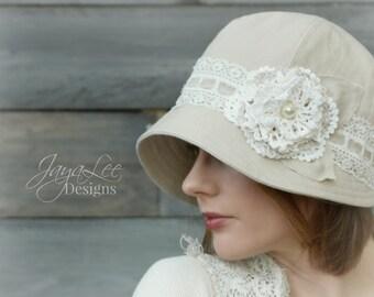 Linen & Lace Cloche Hat
