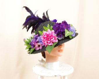 Minnie Pearl Hat * Floral Hat * Straw Hat * Sun Hat * Fashion Hat * Church Hat * Summer Hat * Spring Hat * Formal Hat * Tea Hat