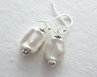 Wavy Hill Tribe Silver Earrings