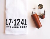 Wyoming Bar Mop Gift for Men Him Kitchen Dish Towel Rustic Groomsmen Housewarming Fathers Day Gift
