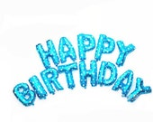 Happy Birthday Blue Balloon Kit - Foil Balloon - 16 inches - 40cms - Birthday Party - Helium Balloon - Ready to Ship.