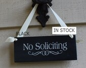No Soliciting Sign/Decorative Sign/ YOU Choose Color/Wood Sign/Outdoor Sign/Front Door Sign/No Sales Calls/Ready to Ship