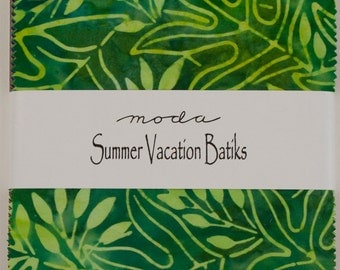 "Summer Vacation by Moda for Moda ~ 100% Cotton ~ 40 / 5"" Square Charm Pack"