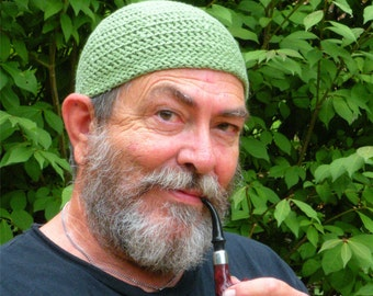 Mens Cotton Cooling Cap™ Crocheted in Grass Green