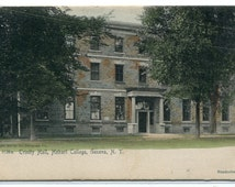Trinity Hall Hobart College Geneva New York 1907c hand colored postcard