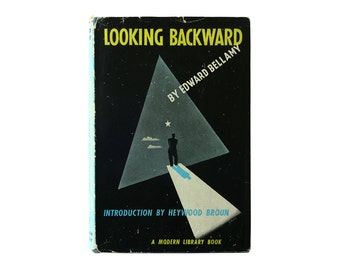 "E. McKnight Kauffer book cover design, 1942. ""Looking Backward"" by Edward Bellamy."