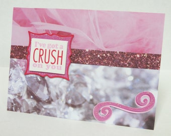 I've Got A Crush On You Handmade Christian Love Card With Scripture