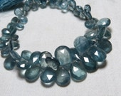 99/ cts - Truly Awesome  Amazing High Grade Quality - Moss AQUAMARINE - super sparkle Faceted Pear  Briolett - huge size - 7 - 13 mm