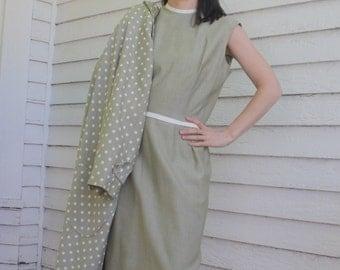 60s Polka Dot Jacket and Dress Mod Retro Green Julie Miller M