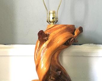 Mid Century Driftwood Lamp