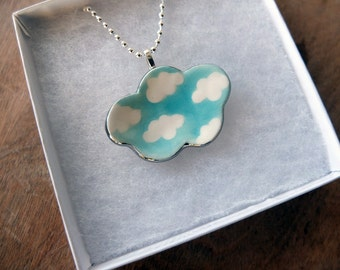 Silver Lined Cloud Pendant