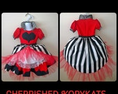 Queen of hearts Girls Toddlers Dress Ready to Ship