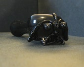 Black Glass Pipe from the Dark Side