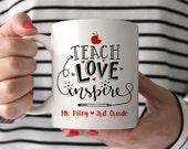 Teacher Gift Teacher Mug Christmas Gifts for Teachers Personalized Teacher Gift Teacher Gift Ideas Preschool Teacher Gifts New Teacher Gift
