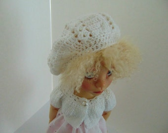 "Slouchy Hat Pattern to Crochet for 18"" Dolls such as American Girl Doll and Trinket Box Kids Mazey"